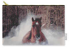 Sunny Running For The Barn. Carry-all Pouch by Jeffrey Koss