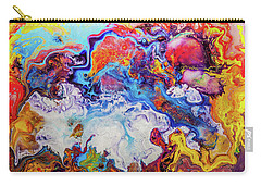 Sunny Side Of The Street - Colorful Psychedelic Abstract Painting Carry-all Pouch