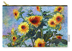 Carry-all Pouch featuring the painting Sunny Sundance by Hailey E Herrera
