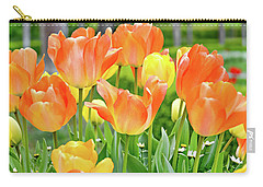 Carry-all Pouch featuring the photograph Sunny Tulips by David Lawson