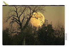 Carry-all Pouch featuring the photograph November Supermoon  by Chris Berry