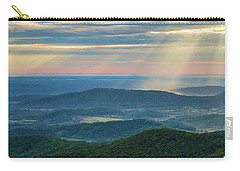 Carry-all Pouch featuring the photograph Sunrays Over The Blue Ridge Mountains by Lori Coleman