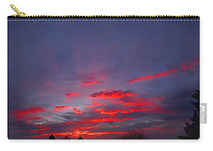 Sunrise Abstract, Red Oklahoma Morning Carry-all Pouch