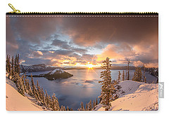 Sunrise After Summer Snowfall Carry-all Pouch