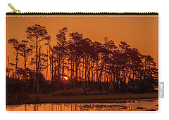 Sunrise Along A Tree Line Carry-all Pouch