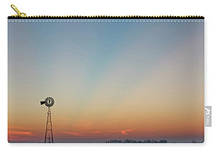Carry-all Pouch featuring the photograph Sunrise And Windmill 02 by Rob Graham