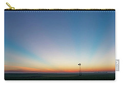 Carry-all Pouch featuring the photograph Sunrise And Windmill 03 by Rob Graham