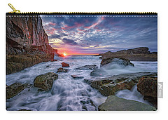 Sunrise At Bald Head Cliff Carry-all Pouch by Rick Berk