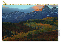 Carry-all Pouch featuring the photograph Sunrise At Dallas Divide During Autumn by Jetson Nguyen