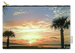 Carry-all Pouch featuring the photograph Sunrise At Ocean Isle by Kerri Farley