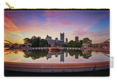 Carry-all Pouch featuring the photograph Sunrise At Point State Park by Emmanuel Panagiotakis