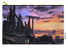 Carry-all Pouch featuring the photograph Sunrise At Steelstacks by DJ Florek