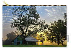 Carry-all Pouch featuring the photograph Sunrise At The Farm by George Randy Bass