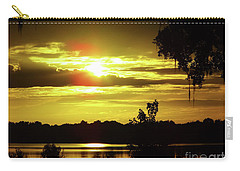 Sunrise At The Lake Carry-all Pouch by D Hackett