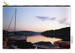 Sunrise At The Lake Carry-all Pouch by James Kirkikis