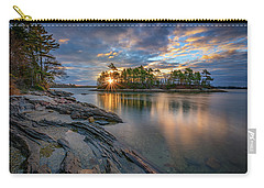 Carry-all Pouch featuring the photograph Sunrise At Wolfe's Neck Woods by Rick Berk