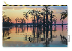 Carry-all Pouch featuring the photograph Sunrise, Bald Cypress Of Nc  by Cindy Lark Hartman