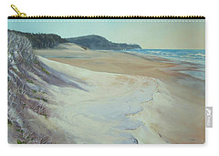 Carry-all Pouch featuring the painting Sunrise Beach And Lions Head Noosa Heads Queensland by Chris Hobel