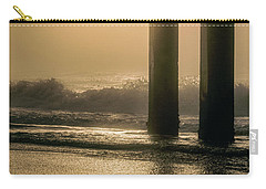 Carry-all Pouch featuring the photograph Sunrise Bird At Beach  by John McGraw