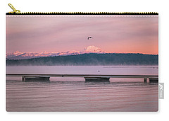 Carry-all Pouch featuring the photograph Sunrise Fog by Jan Davies