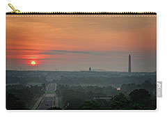 Carry-all Pouch featuring the photograph Sunrise From The Arlington House by Cindy Lark Hartman
