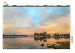 Carry-all Pouch featuring the photograph Sunrise, From The West by Cindy Lark Hartman