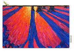 Sunrise In Glory - Long Shadows Of Trees At Dawn Carry-all Pouch by Ana Maria Edulescu