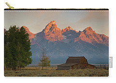 Sunrise In Jackson Hole Carry-all Pouch by Steve Stuller