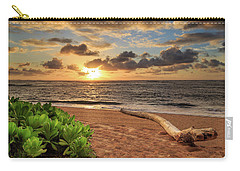 Carry-all Pouch featuring the photograph Sunrise In Kapaa by James Eddy