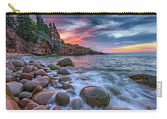 Sunrise In Monument Cove Carry-all Pouch by Rick Berk