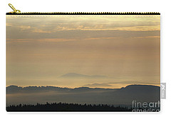 Sunrise In The Mountains - Hills In Morning Mist Carry-all Pouch by Michal Boubin