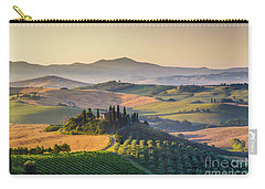 Sunrise In Tuscany Carry-all Pouch by JR Photography