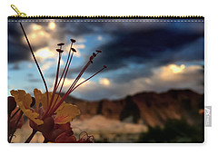 Carry-all Pouch featuring the photograph Sunrise La Quinta by Chris Tarpening