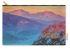 Sunrise Light On Mt. Diablo Carry-all Pouch by Marc Crumpler