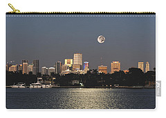 Sunrise Moon Over Miami Carry-all Pouch by Gary Dean Mercer Clark