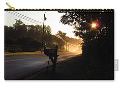 Sunrise On A Country Road Carry-all Pouch