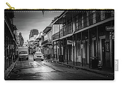 Sunrise On Bourbon Street In Black And White Carry-all Pouch