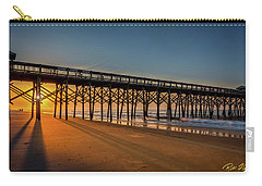 Carry-all Pouch featuring the photograph Sunrise On Folly Island by Rikk Flohr