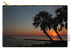 Carry-all Pouch featuring the photograph Sunrise On Pleasure Island by Judy Vincent