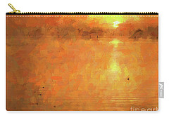 Sunrise On The Bay Carry-all Pouch by Scott Cameron