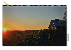 Carry-all Pouch featuring the photograph Sunrise On The Farm by Chris Berry