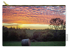 Carry-all Pouch featuring the photograph Sunrise On The Farm by Wade Courtney