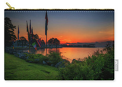 Carry-all Pouch featuring the photograph Sunrise On The Neuse 2 by Cindy Lark Hartman