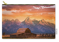 Carry-all Pouch featuring the photograph Sunrise On The Ranch by Darren White