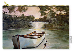 Carry-all Pouch featuring the painting Sunrise On The Shallows by Alan Lakin