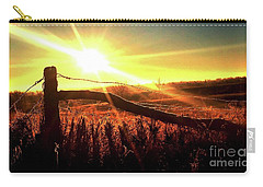 Sunrise On The Wire Carry-all Pouch by J L Zarek