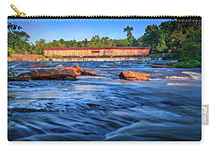 Carry-all Pouch featuring the photograph Sunrise On Watson Mill Bridge by Doug Camara
