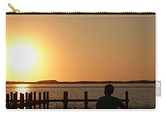 Carry-all Pouch featuring the photograph Sunrise Over Assateaque by Donald C Morgan