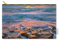 Sunrise Over Carlin Park In Jupiter Florida Carry-all Pouch by Justin Kelefas
