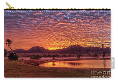 Carry-all Pouch featuring the photograph Sunrise Over Gila Mountain Range by Robert Bales